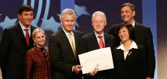 President Bill Clinton, Jeffrey Immelt,