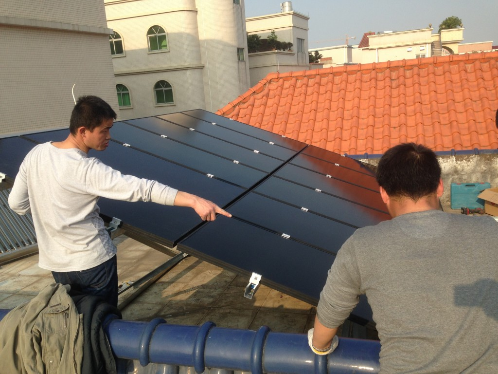 PCA solar installation, china