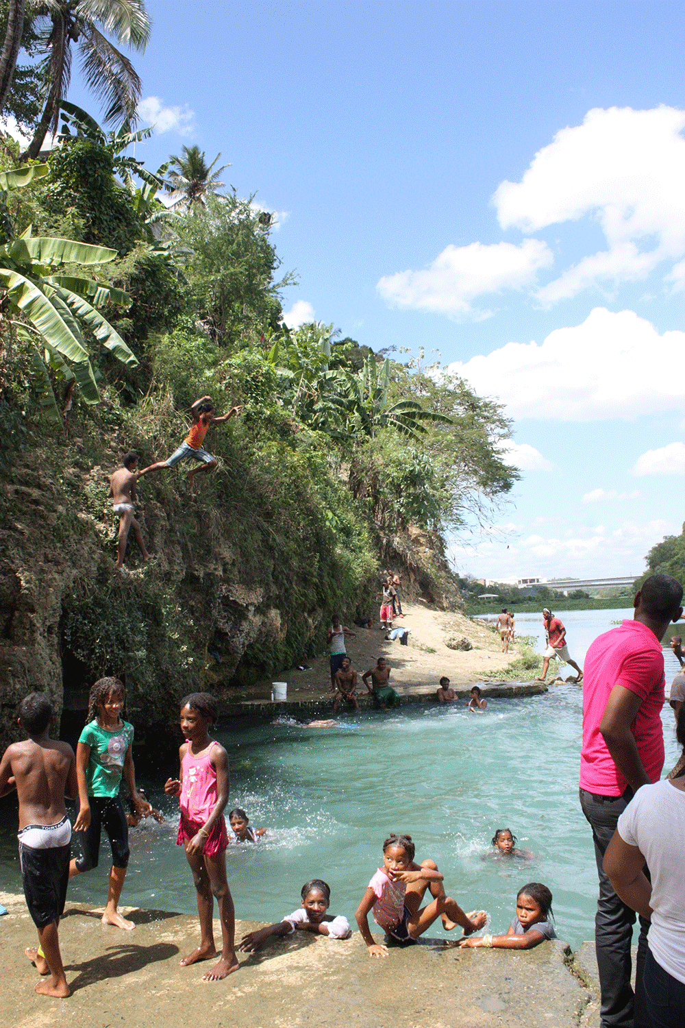 dominican republic locals swimming