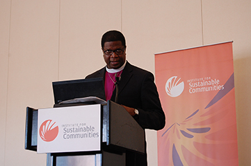 bishop sutton speaking at scla